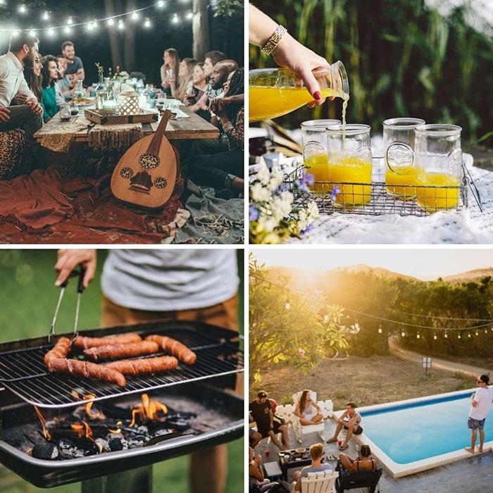 Barbacoa y quedadas con amigos en verano