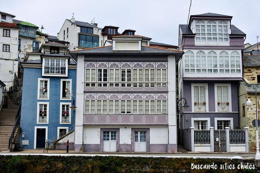 Casas barrio de la pescadería Luarca